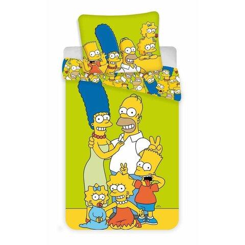 Dětské bavlněné povlečení 140x200 The Simpsons Family