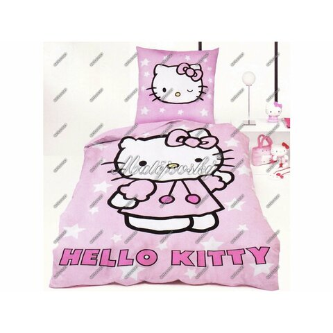 Dětské bavlněné povlečení Hello Kitty 100x135