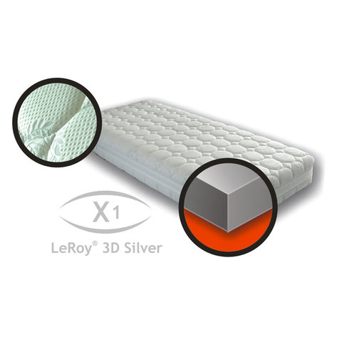 Matrace X1 LeRoy 3Dsilver 90x200x22