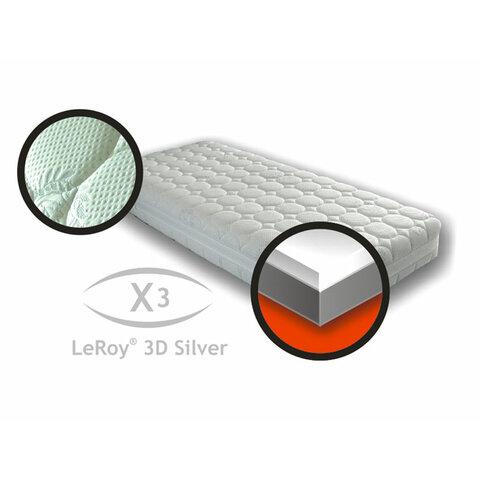 Matrace X3 LeRoy 3D silver 90x200x22