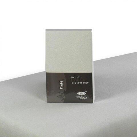 Prostěradlo Froté 140x200 bílá napínací LeRoy