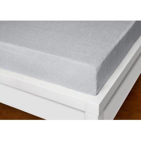 Prostěradlo Froté 200x220 světle šedé napínací LeRoy