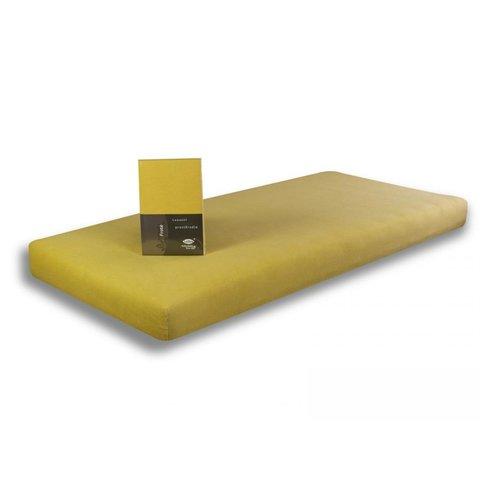 Prostěradlo Froté 70x140 vanilková žlutá napínací LeRoy