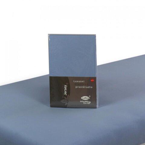 Prostěradlo Jersey 100x200 světle modrá s elastanem napínací LeRoy