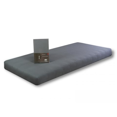 Prostěradlo Jersey 100x220 tmavě šedá s elastanem napínací LeRoy