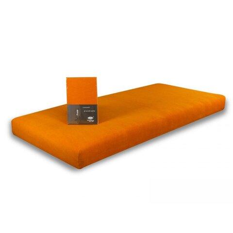 Prostěradlo Jersey 160x200 oranžová s elastanem napínací LeRoy