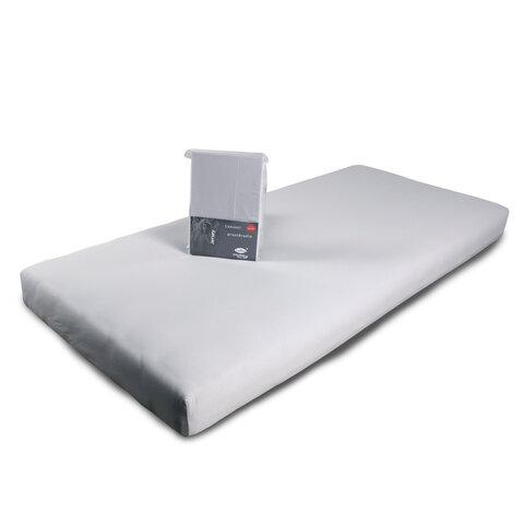 Prostěradlo Jersey 160x200 světle šedá s elastanem napínací LeRoy