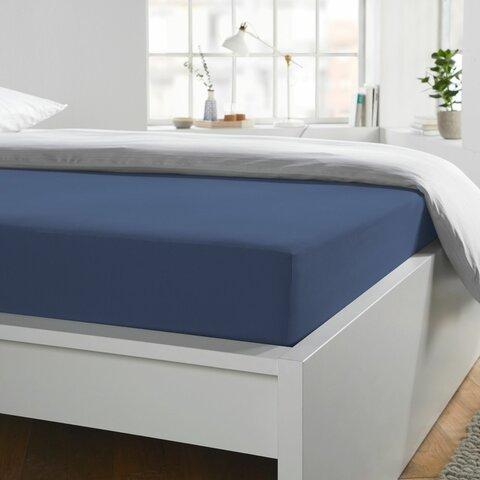 Prostěradlo Jersey 180x200-200x220x40 jeans BoxSpring elastan Schlafgut