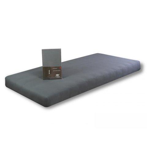 Prostěradlo Jersey 180x200 tmavě šedá s elastanem napínací LeRoy