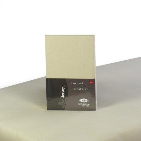 Prostěradlo Jersey 70x140 smetanová s elastanem napínací LeRoy