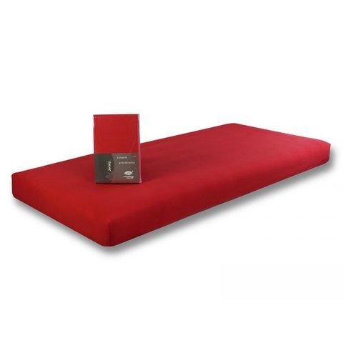 Prostěradlo Jersey 90x200 červená s elastanem napínací LeRoy