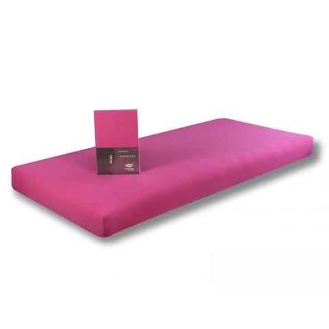 Prostěradlo Jersey 90x200 růžová s elastanem napínací LeRoy