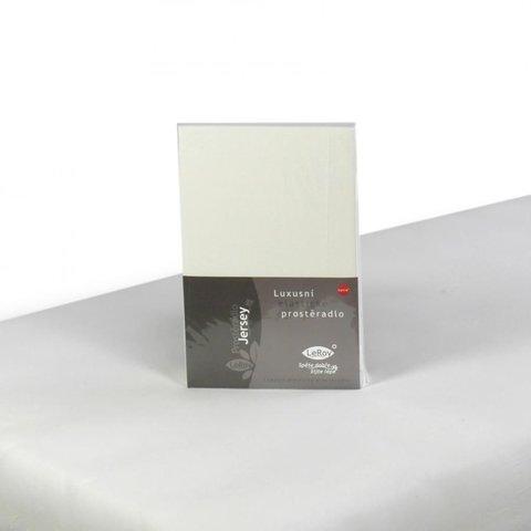 Prostěradlo Jersey 90x200 smetanová s elastanem napínací LeRoy