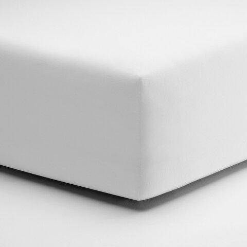 Prostěradlo Schlafgut Jersey 140x200 - 160x220x25cm 011 Bíla Elastan Deluxe