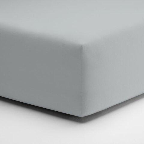 Prostěradlo Schlafgut Jersey 140x200 - 160x220x25cm Elastan Deluxe 511 platin