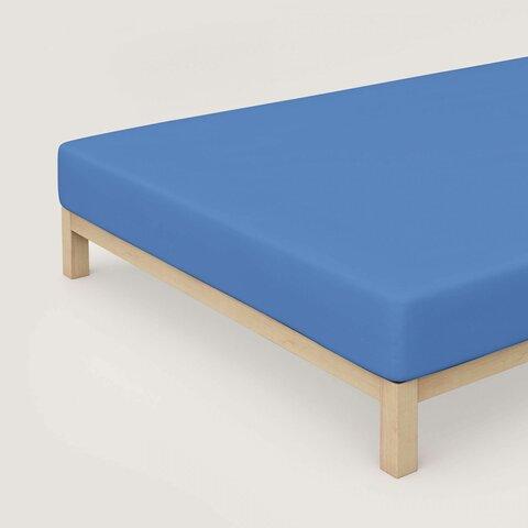 Prostěradlo Schlafgut Jersey 140x200-160x220x30 cm Elastan Deluxe 338 Kobalt