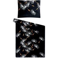 Povlečení mikroflanel 140x200 Pampeliška černá