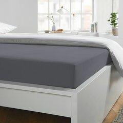 Prostěradlo Jersey 180x200-200x220x25 graphit elastan Schlafgut