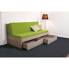 TANDEM Klasik postel rozkládací 90-180x200cm, rohy oblé, LTD imitace dřeva